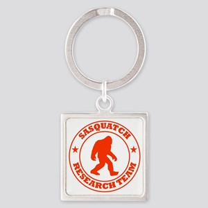 sasquatch research team red Square Keychain