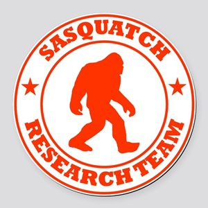 sasquatch research team red Round Car Magnet