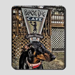 Black Dog Cafe II Mousepad