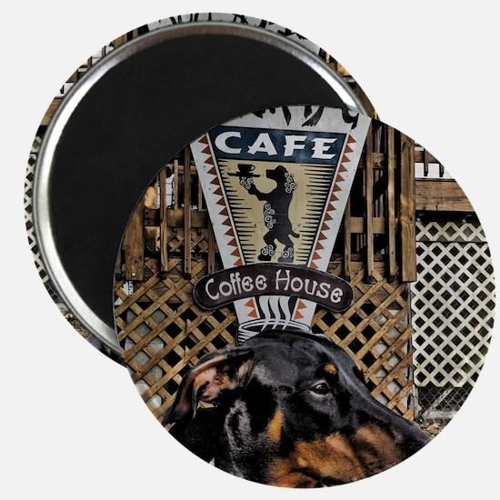 Black Dog Cafe II Magnet