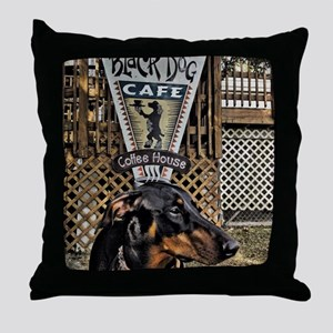 Black Dog Cafe II Throw Pillow