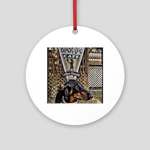 Black Dog Cafe II Round Ornament