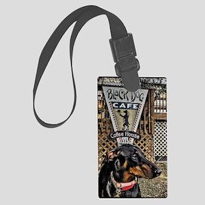 Black Dog Cafe II Large Luggage Tag