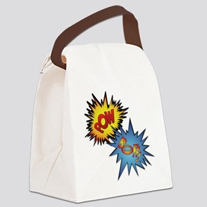 Pow And Boff Canvas Lunch Bag