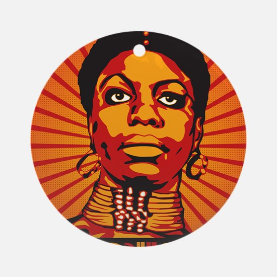 High Priestess of Soul Framed Print Round Ornament