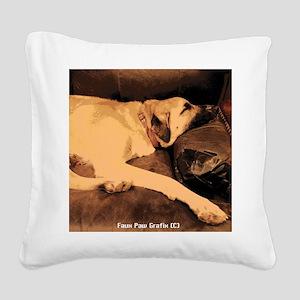 Anatolian Couch Potato Square Canvas Pillow