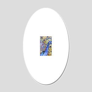 Amethyst Peacock 20x12 Oval Wall Decal