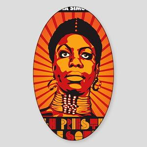 High Priestess of Soul Nook Sticker (Oval)