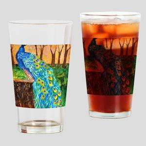 Peacock Pre-Dawn Drinking Glass