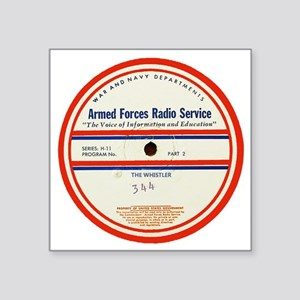"Armed Forces Radio Service Square Sticker 3"" x 3"""