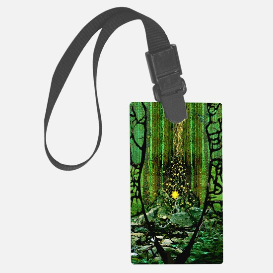 Prayer for the Forests oval Luggage Tag