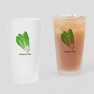 Lettuce Pray Drinking Glass