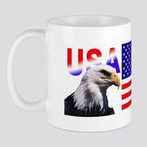 USA Flag with Eagle Mug