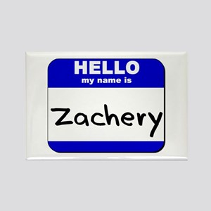 hello my name is zachery Rectangle Magnet