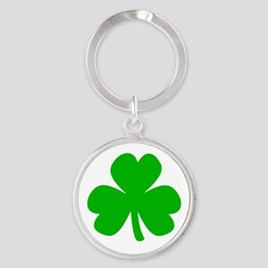 Three Leaf Clover Round Keychain