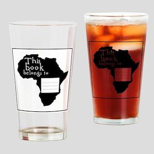 Africa Bookplate Drinking Glass