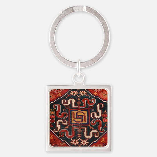 Cloudband Rug Medallion Square Keychain