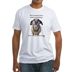 Up to the Dogs Fitted T-Shirt