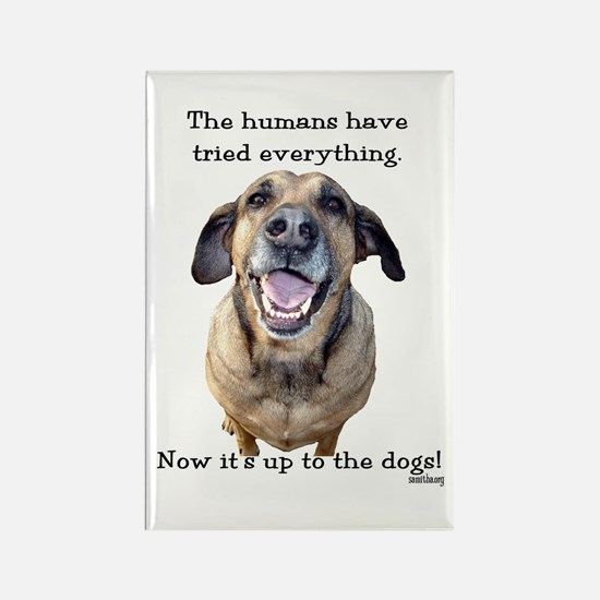 Up to the Dogs Rectangle Magnet