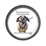 Up to the Dogs Wall Clock