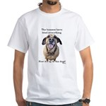 Up to the Dogs White T-Shirt