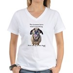 Up to the Dogs Women's V-Neck T-Shirt