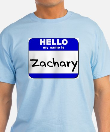 hello my name is zachary T-Shirt
