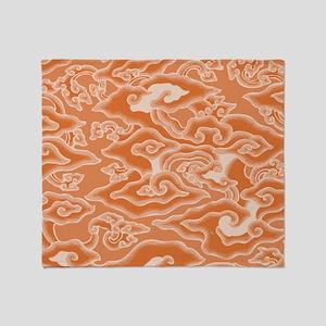 funky swirls Throw Blanket