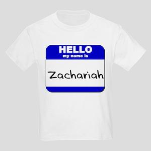 hello my name is zachariah Kids Light T-Shirt
