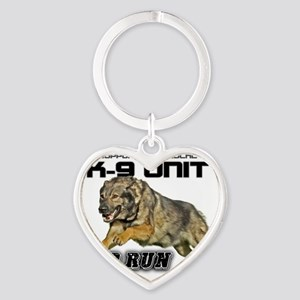 Support you local K9 Unit Heart Keychain