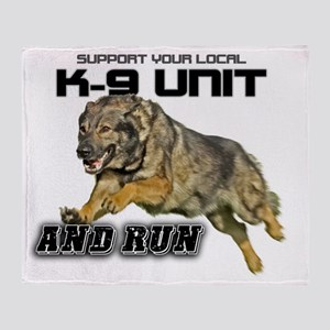 Support you local K9 Unit Throw Blanket