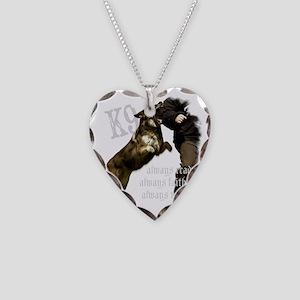 K9 Always ready Necklace Heart Charm