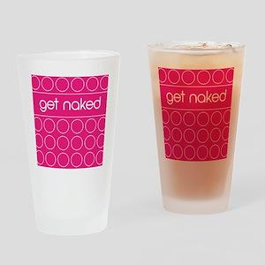 pink dot Drinking Glass