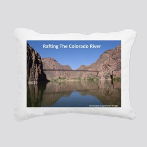 Kaibab Suspension Bridge Rectangular Canvas Pillow