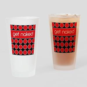 red black dot Drinking Glass