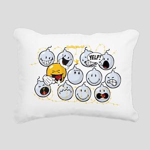 Bombs Smiley Rectangular Canvas Pillow