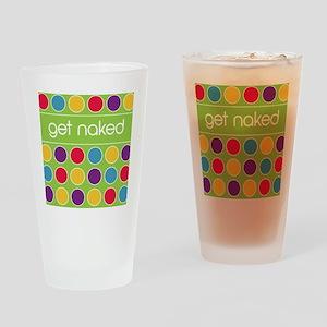 Green multi dot Drinking Glass