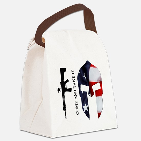 Square - CATI - Spartan Flag Canvas Lunch Bag