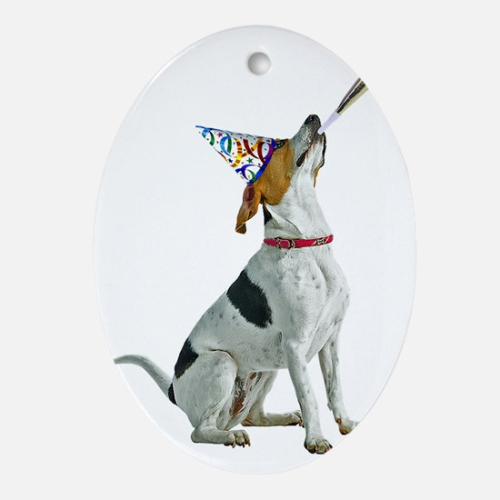 American Foxhound Party Oval Ornament