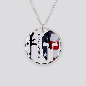 Square - CATI - Spartan Flag Necklace Circle Charm