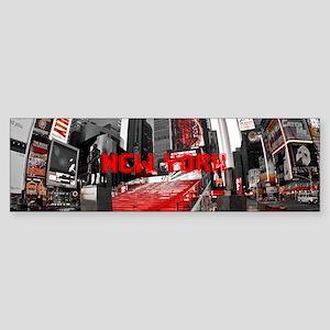 NewYork_8.31x3_mug_DuffySquare Sticker (Bumper)