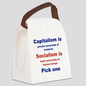 CAPITALISM IS... SOCIALISM IS... Canvas Lunch Bag