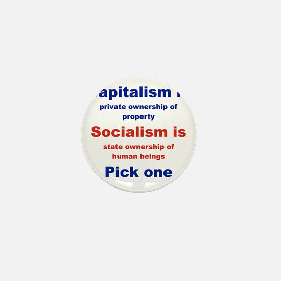 CAPITALISM IS... SOCIALISM IS... Mini Button