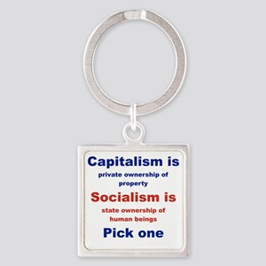 CAPITALISM IS... SOCIALISM IS... Square Keychain