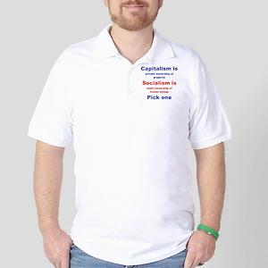 CAPITALISM IS... SOCIALISM IS... Golf Shirt