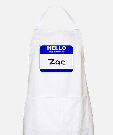 hello my name is zac  BBQ Apron