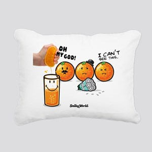 orange smiley Rectangular Canvas Pillow
