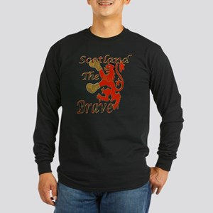 Scotland the Brave Boxing Long Sleeve Dark T-Shirt