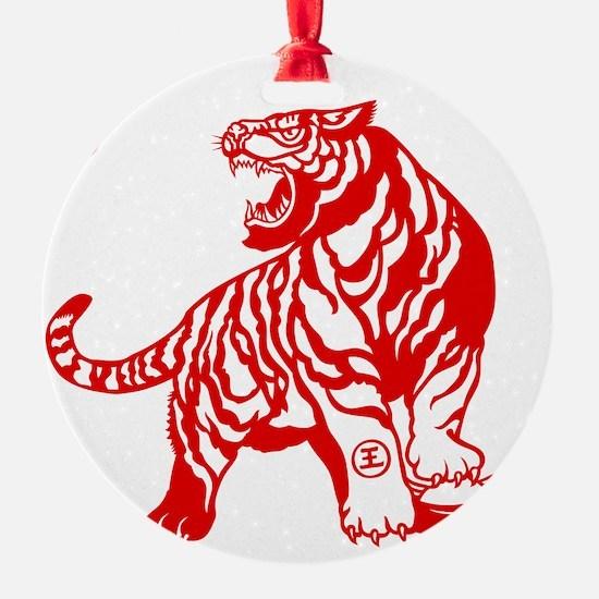 Asian Tiger Ornament