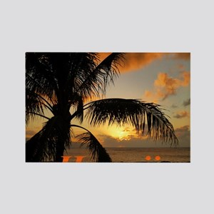 Sunset North Shore Oahu Rectangle Magnet